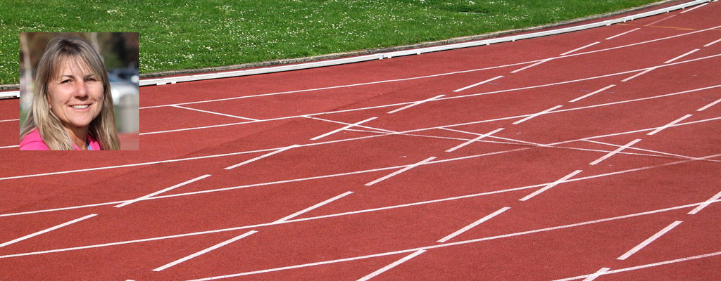 College of the Canyons Track Coach Belinda Kane welcomed the first JumpRopeSprint program in 2010.